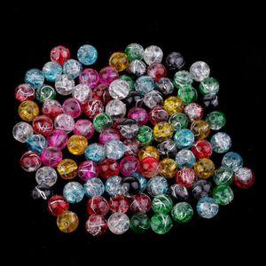 200X Perle en Cristal Crystal Verre Rond 8mm Multicolor by Gleader