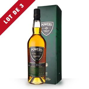 WHISKY BOURBON SCOTCH 3X Powers Signature Release 70cl - Etui - Whisky