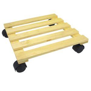 JARDINIÈRE - BAC A FLEUR COGEX Support pot bois carré à roulette