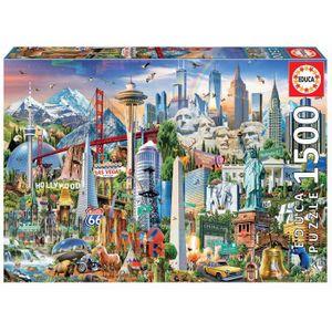 PUZZLE EDUCA Borras Puzzle 1500 piéces Symboles D'Ameriqu