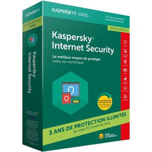 ANTIVIRUS KASPERSKY Internet Security 2018 (1 Poste/ 3 Ans)