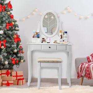 COIFFEUSE LANGRIA Coiffeuse Table de Maquillage 80x40x137cm