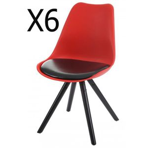 Chaise Salle A Manger Rouge Achat Vente Pas Cher