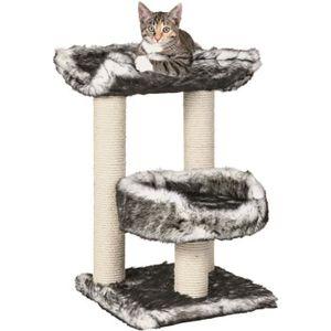 ARBRE À CHAT TRIXIE Isaba Arbre à chat Hauteur 62 cm noir et bl