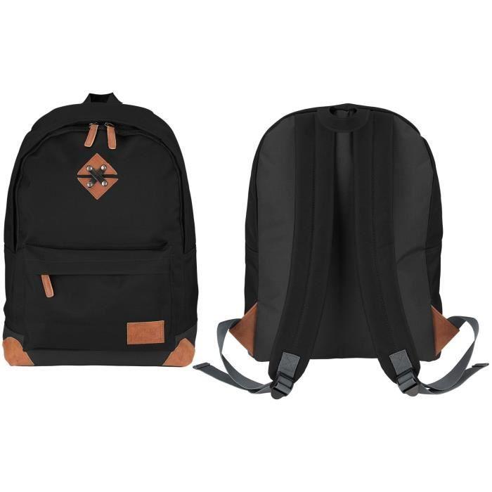 ABBEY Sac à dos de taille moyenne - 100% Polyester 300T - 42 x 30 x 16 cm - Capacité : 20 L - Noir