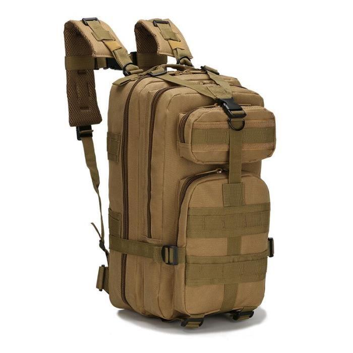 Sac à dos militaire tactique Molle de 20-30l pour hommes, pour randonnée en plein air, Trekking, Sport, escalade [AA10611]