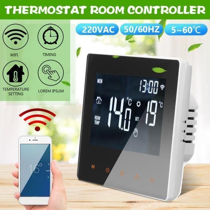 220V Numérique WiFi Smart Chauffage Thermostat Contrôleur Intérieur Aw24864
