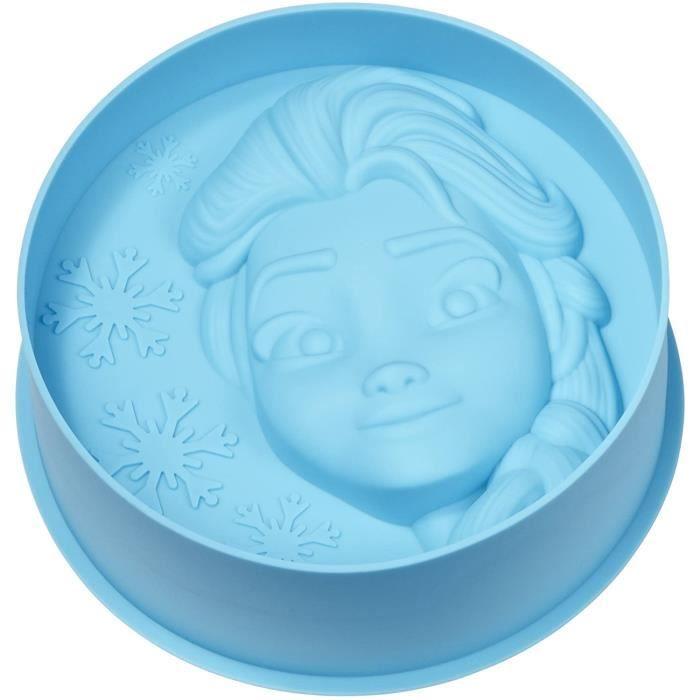 Gedalabels 20572 Moule à Gateau Disney La Reine des neiges-Elsa en Silicone Bleu, 20 x 20 x 4,5 cm