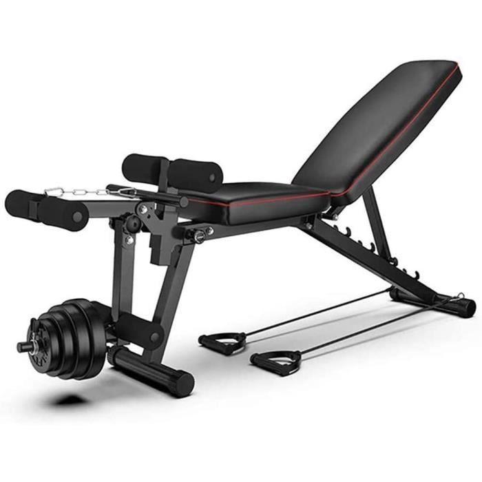 BANC DE MUSCULATION LJBOZ Banc de Musculation Multifonctions Pliable,avec Leg Extension Machine,Universel Banc &agrave halt&egr139