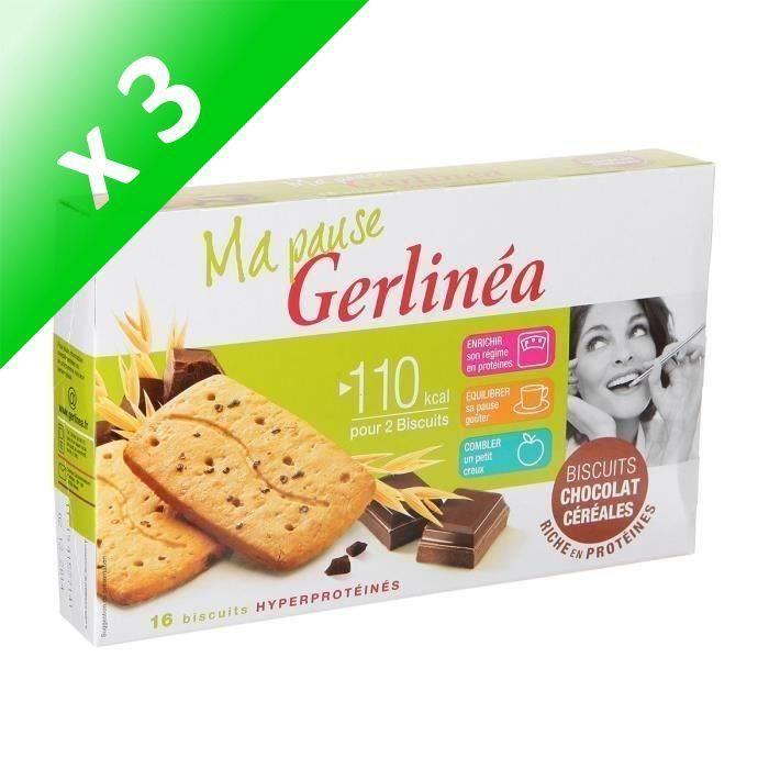 [LOT DE 3] GERLINEA Biscuits Chocolat Céréales - 200 g