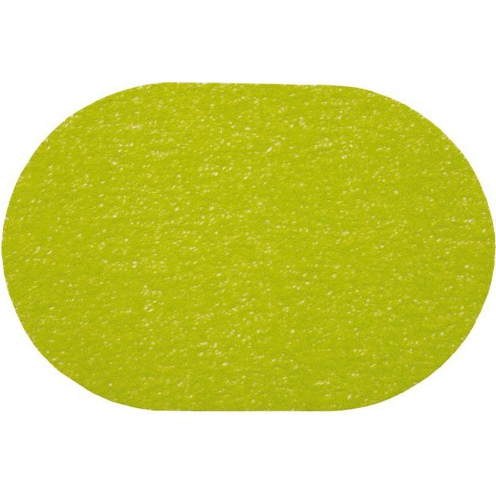 Set de table ovale 30x45 SPAGHETTI ANIS