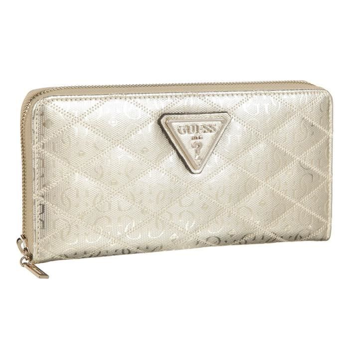 GUESS Portefeuille Or Femme