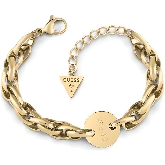 Guess Chain Reaction Bracelet Acier Doré UBB29032