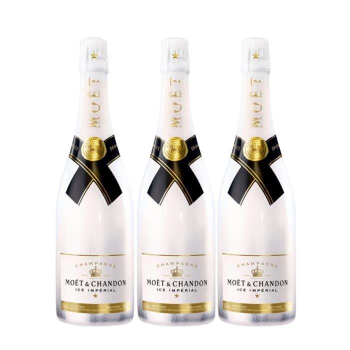 Lot 3 Champagnes Moët & Chandon Moët Ice 75cl