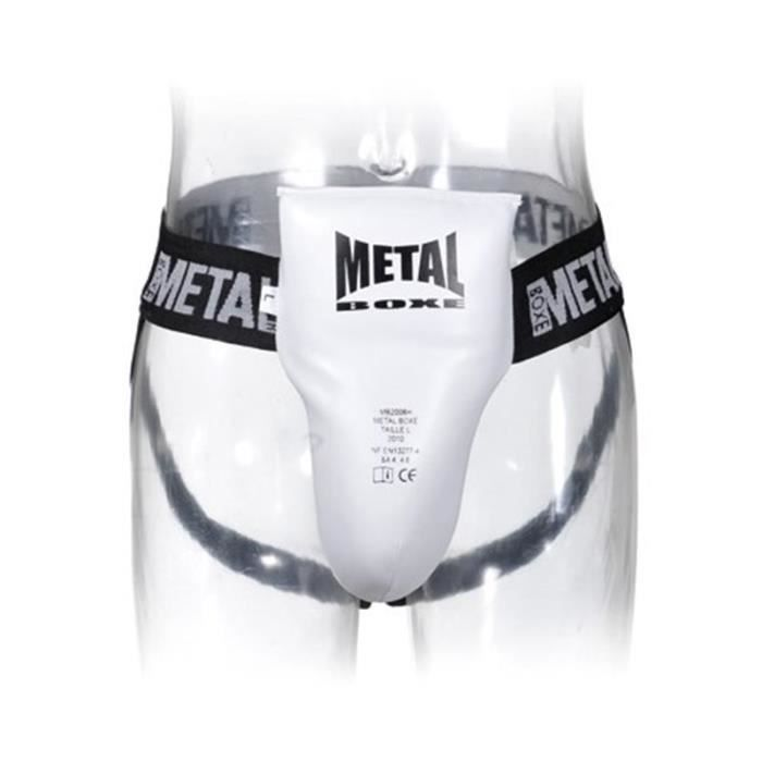 Coquille homme semi pro Metal boxe blanche - M