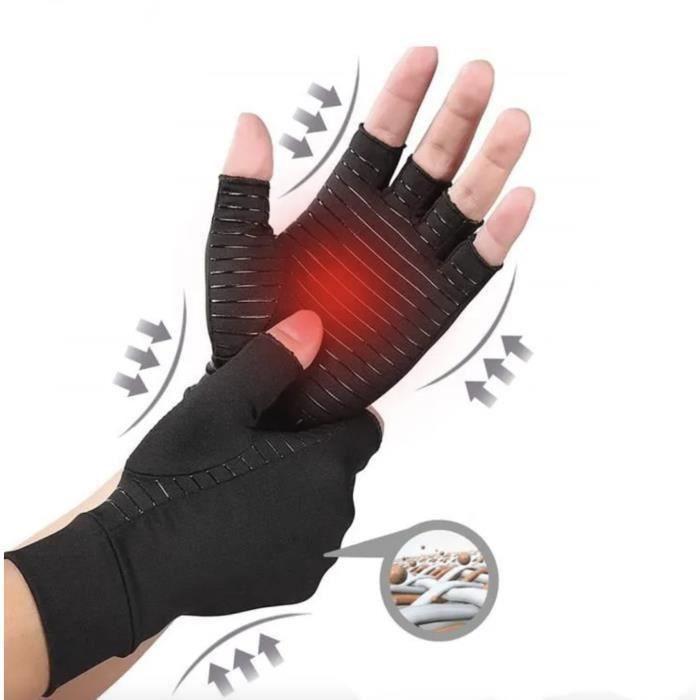 Bstoem Gants de compression en cuivre Arthrose Gants Arthrite, Soulager l'arthrose rhumatoïde et les douleurs du canal carpien (M)