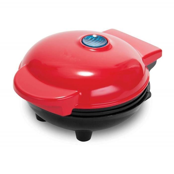 Mini gaufrier Cuisson double face à température constante Tube chauffant efficace Rouge