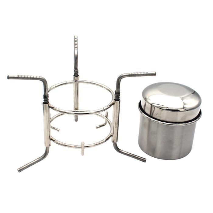 Chauffe-alcool à l'essuilleurs d'alcool à coupe d'eau Mini poêle à alcool avec sac de rangement