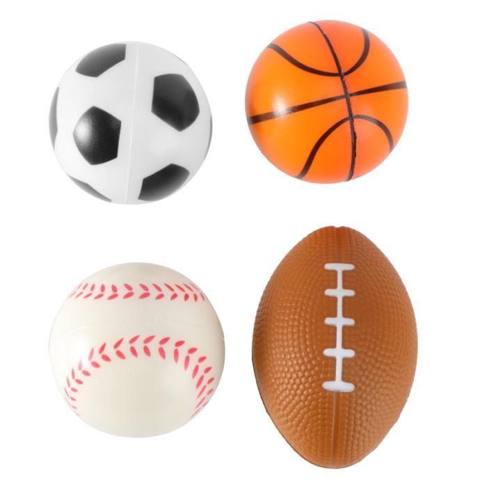 4pcs mini balles de sport anti-stress favorisent les jouets pour enfants soulagement du stress parti (1pc de MINI CAGE - MINI BUT