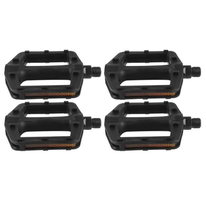 2 paires de pédales de vélo universelles en plastique durable anti-dérapant accessoires de vtt PEDALIER - PEDALE - CACHE-PEDALIER