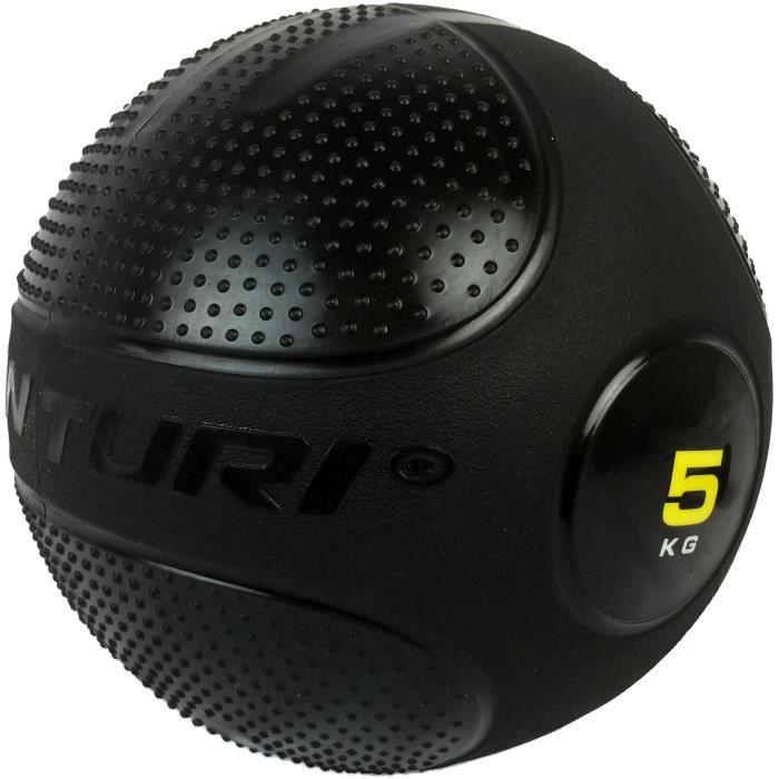 TUNTURI Ballon de slam / slam ball entraînement crossfit musculation 5kg noir