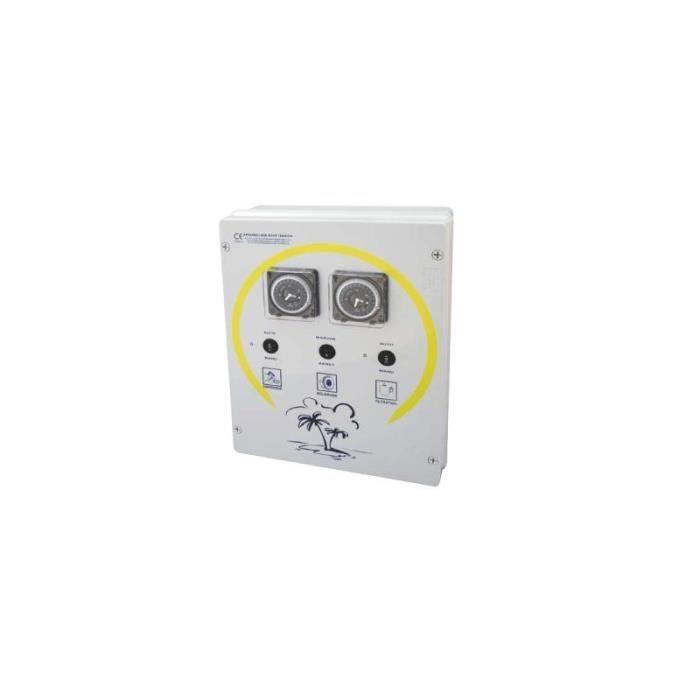 Coffret électrique filtration + éclairage + robot - Filtration + surpresseur + Transfo 300 VA