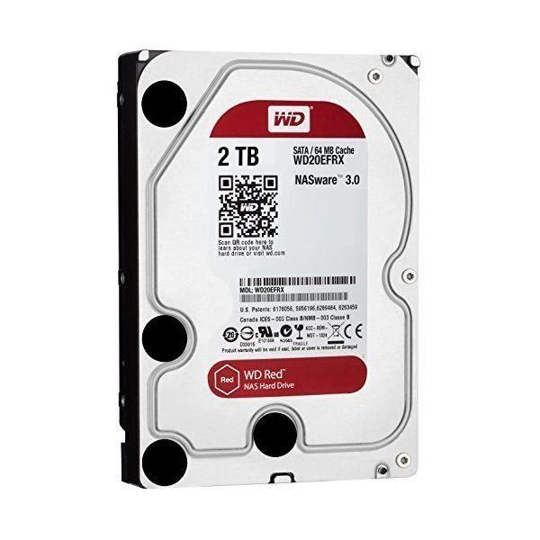 Composant - Piece Detachee / Disque Dur Interne / Disque Dur Interne - Disque dur Western Digital Red WD20EFRX 3.5- 2 TB Sata