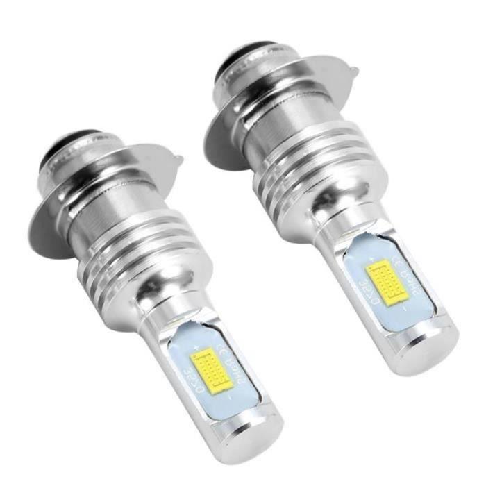 QQ18768-EBTOOLS Phare antibrouillard à LED 2Pcs 80W 6000K LED Ampoules Blanches de Voiture pour H6 - P15D Feu Antibrouillard avec