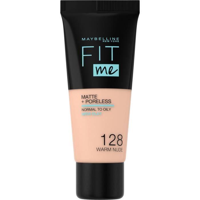 GEMEY MAYBELLINE Fit Me - Fond de Teint mat antipores - 128 Nude