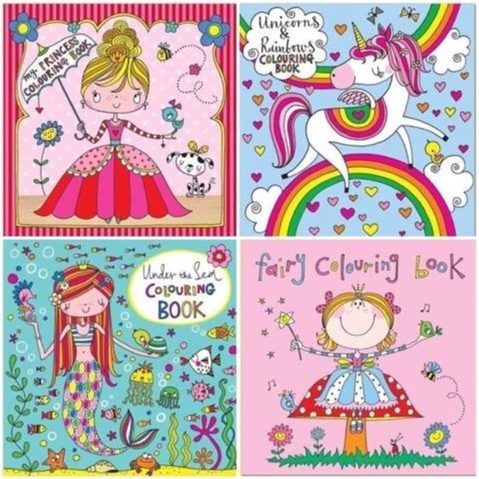 Jeu De Coloriage M872s Ensemble De 4 Livres A Colorier Par Licorne Fee Princesse Et Under The Sea Achat Vente Livre De Coloriage Cdiscount