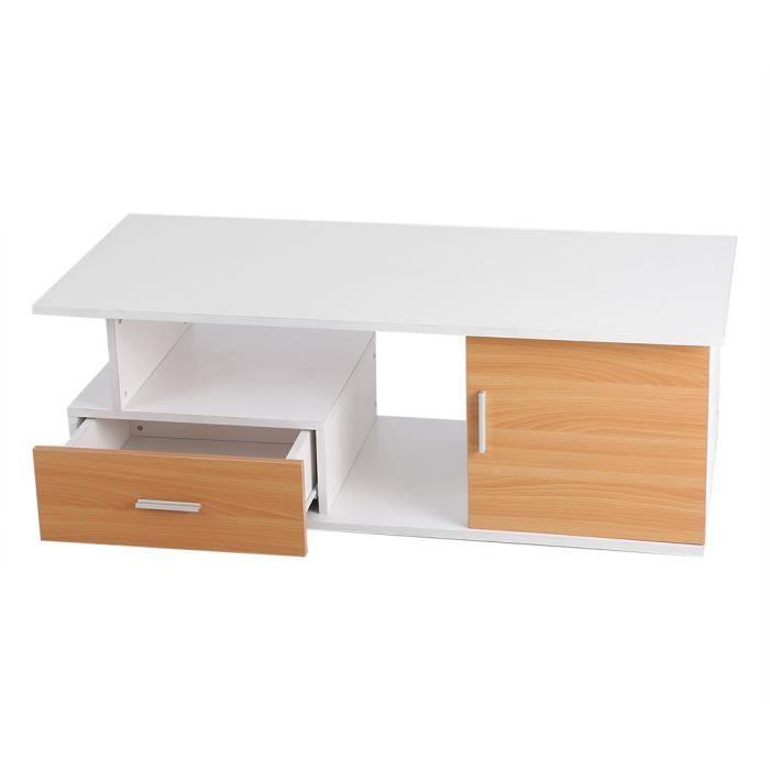 TABLE BASSE Table basse avec tiroir et bac de rangement pour S
