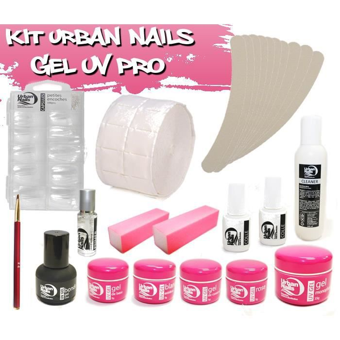 kit manucure urban nails ongle en gel uv pro achat. Black Bedroom Furniture Sets. Home Design Ideas