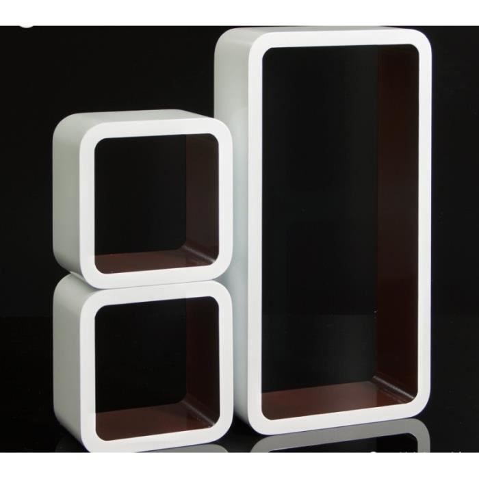 meuble cube marron achat vente pas cher. Black Bedroom Furniture Sets. Home Design Ideas