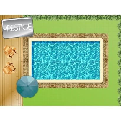 Piscine en kit b ton 8 x 4 m prestige achat vente kit for Kit piscine beton