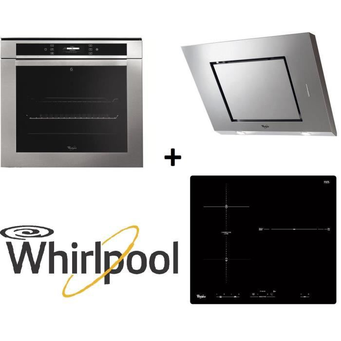 pack cuisson whirlpool akzm670ix four lectrique multifonction 73l acm883ne table de cuisson. Black Bedroom Furniture Sets. Home Design Ideas