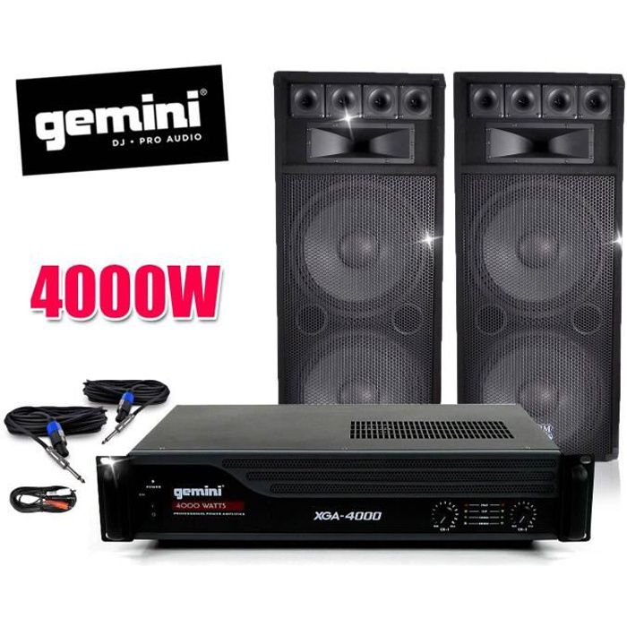 pack sono ampli gemini enceintes bm sonic 2x1000w pack. Black Bedroom Furniture Sets. Home Design Ideas