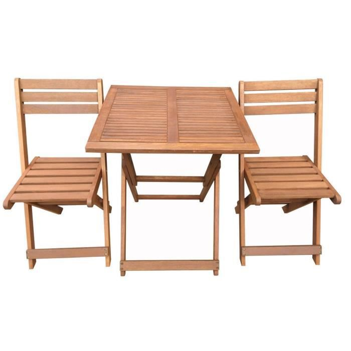 Salon De Jardin En Bois Exotique Hano Maple Marron Clair Table Pliante Carr E 60 X 60 X