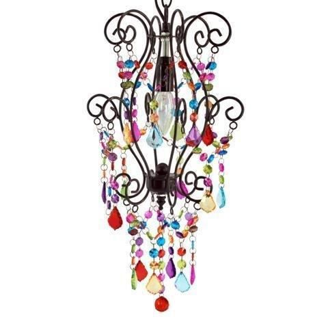 Lustre en suspension indienne couleurs 32x26 cm achat for Lustre en suspension