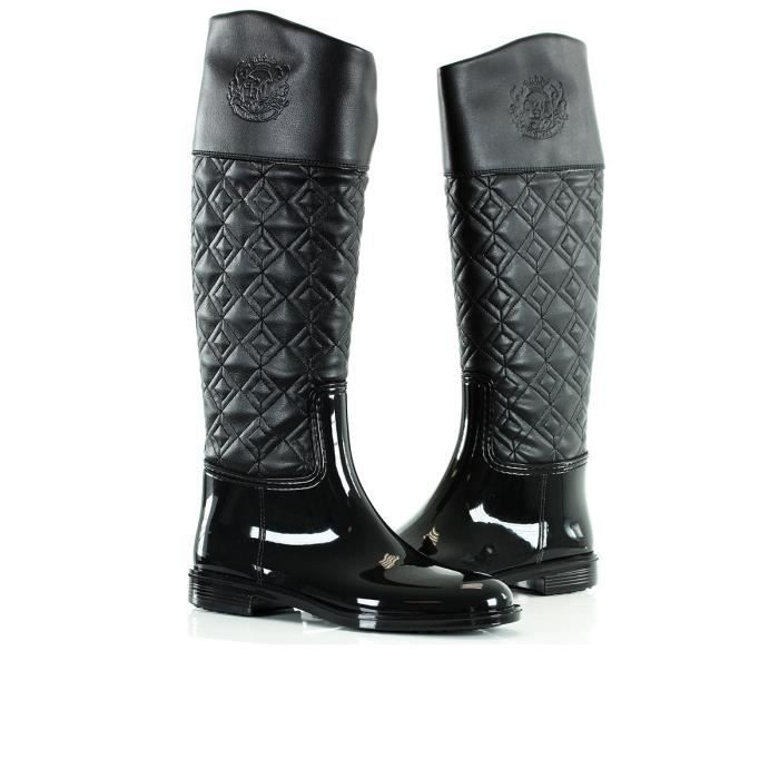 bottes de pluie femme sissyna no noir noir achat vente botte cdiscount. Black Bedroom Furniture Sets. Home Design Ideas