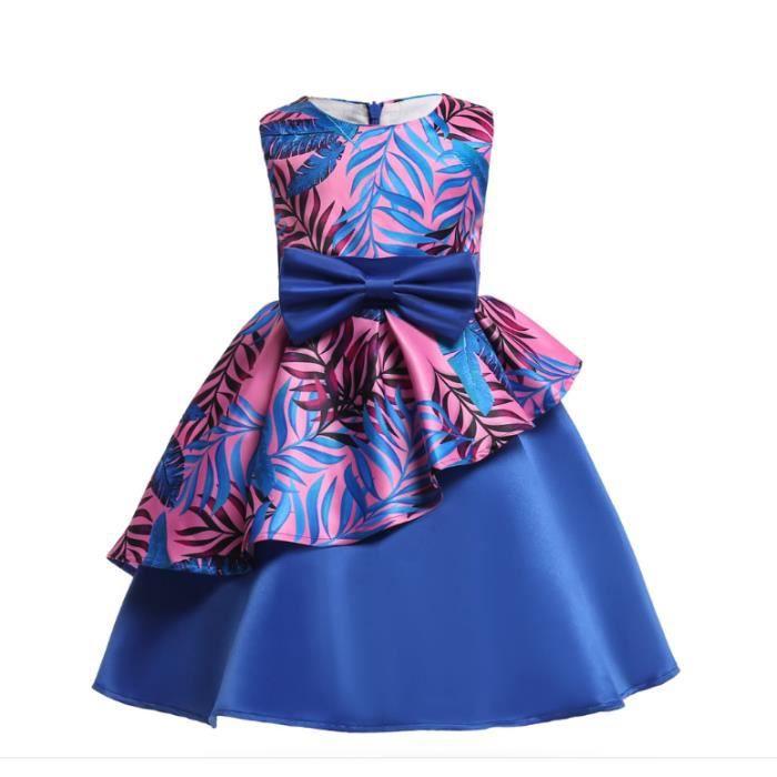 Petites Robes De Demoiselle D Honneur Princesse Robes Robe De Soiree Elegante Robe Pour Enfants Fille Bleu Achat Vente Robe Cdiscount