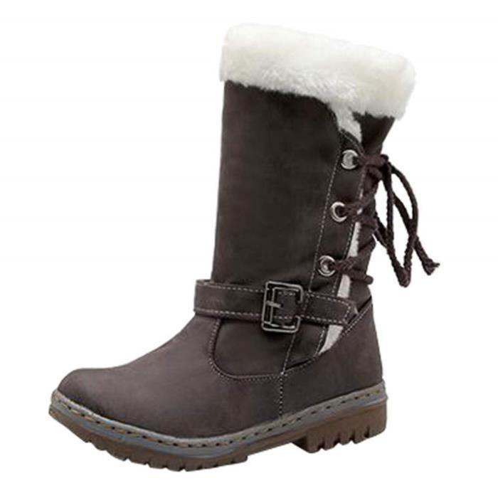 Botte De Fille Chaussures Boots Femmes Bottes CuirInversion Classiques Bottines Bottes Bottes Kart Neige Talons Simili Mode Plats qUzVSMp