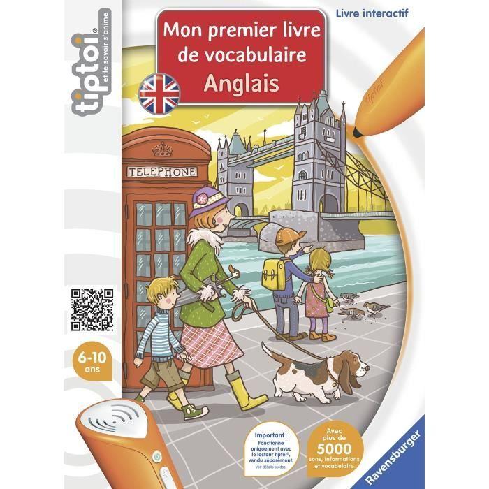 LIVRE INTERACTIF ENFANT TIPTOI Mon premier Livre de Vocabulaire Anglais In