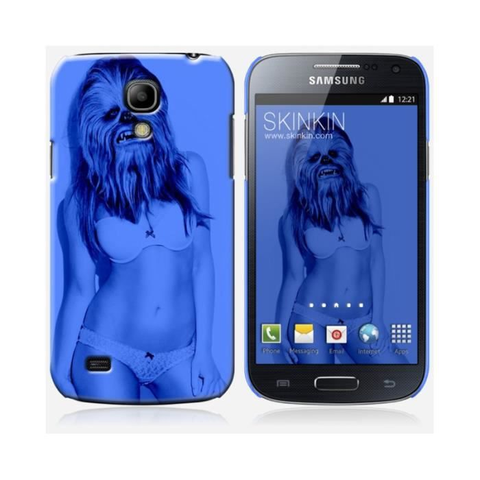coque samsung galaxy s4 mini design sexy chewbie blue. Black Bedroom Furniture Sets. Home Design Ideas