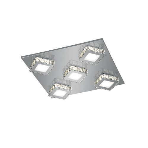 plafonnier led design ondule – nickel