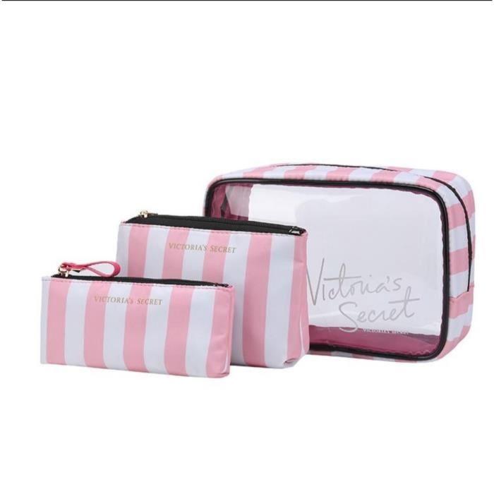 Sac Victoria's Secret Trousse Maquillage Trousse de Toilette bain Trousse Pinceaux rangement ...