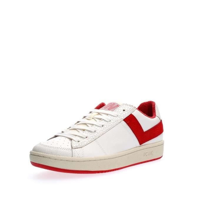 PONY SNEAKERS Homme WHITE RED, 45
