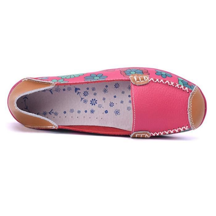 Slip-on Casual Flats Mocassins Driving Chaussures Mocassins en cuir CSYXY Taille-40