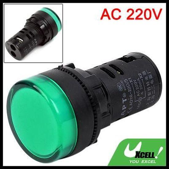 "5 Pcs AC 220V 8.1/"" Câble Long Feu Vert Voyant Chauffe-Eau"