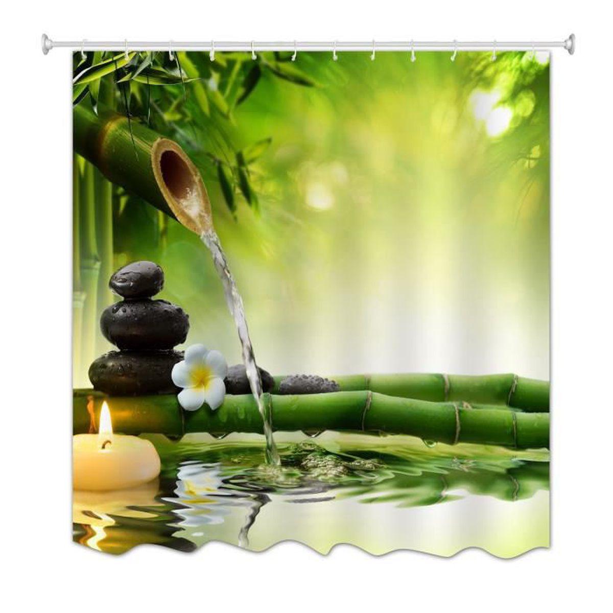 Décoration Salle De Méditation a.monamour yoga méditation zen eau bambou vert paysage