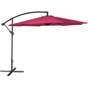 Housse Happy Garden Parasol d/éport/é OAHU Rond 3,50m de diam/ètre Rouge